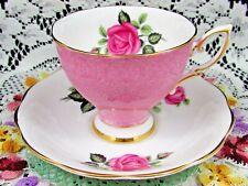 ROYAL STANDARD PINK ROSES STIPPLED TEA CUP AND SAUCER TEACUP