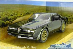 SMOKEY AND THE BANDIT PONTIAC FIREBIRD MODEL CAR 1977 BLACK 1:32 SCALE JADA K8