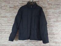 Eddie Bauer Down Mens Jacket Size Medium QUitled INterior M - Goose Coat