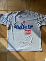 Vintage Washington Bullets Wizards Shirt L/XL Screen Stars NBA Coca Cola 80s 90s