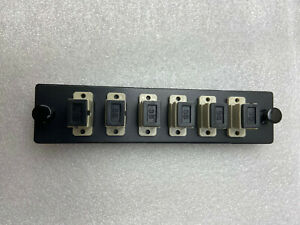 Fiber Optic Adapter Panel, Multi Mode, OM1 / OM2 _6 SC Simplex Connectors 6 Pack
