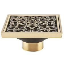 Retro Floor Drain Grate Shower Bathroom Waste Drain Strain Cover - Quality Brass