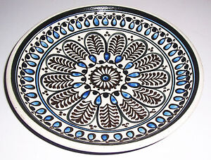 Lausitzer Ceramics Wall Plate Ø 26 CM 1950er Mid Century Country House Vintage