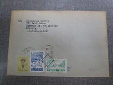 133 Северная корея ДНРК DPRK Pyongyang to UK  1960 cover three stamp