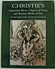 Christie New York October 17 1996 Silver Objects of Vertu Russian Works of Art