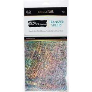"Deco Foil - Brutus Monroe - Transfer Sheets 6""X12"" 10/Pkg - Silver Sketch"
