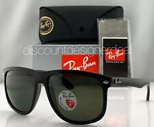 Ray-Ban RB4147 Sunglasses 601/58 Shiny Black Classic Green POLARIZED Lens 60mm
