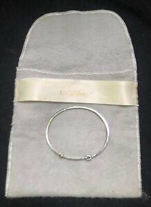 Cartier Vintage Bangle Bracelet - Sterling Silver & 18K Gold - Weight 8.58 Grams