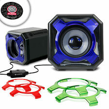 USB Computer Gaming Speakers with Interchangeable Grills & Powerful 5W Drivers