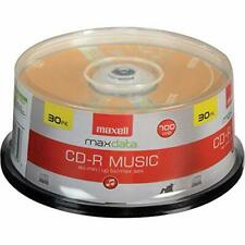 CD-R Blank Media 30 Pack Spindle Maxell CDR Audio Music 80 Minute 700MB Player