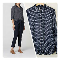 [ TRENERY ] Womens Spotted French Linen Shirt Top | Size XXL or AU 16