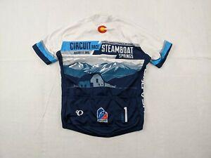 Pearl Izumi Cycling Jersey Adult Medium Men 1/2 Zip Blue Steamboat Colorado