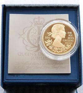 2012 Royal Mint Diamond Jubilee £5 Five Pound Silver Gold Proof Coin Box Coa