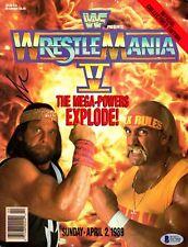BECKETT-BAS VINCE MCMAHON SIGNED WWF WRESTLEMANIA FIVE PROGRAM E67866 WWE