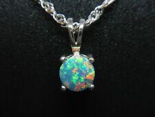 Natural Australian Opal Soublet 925 Sterling Silver Pendant