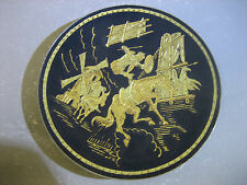 Vintage hand crafted metal decorative plate