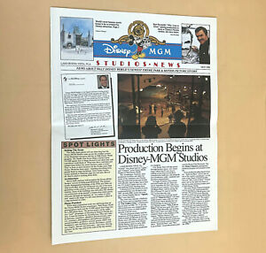Vintage WDW Disney MGM Studios PreOpening Cast Newsletter May 1988
