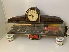 Budweiser Beer | Champion Clydesdale Horse Team | Bar Light Sign Clock | Vintage