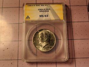 1964-D DDO-018 MS63 Kennedy Silver Half Dollar Extremely RARE