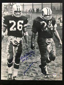 Herb Adderley & Willie Wood HOF Green Bay Packers Signed 11x14 Photo ~ PSA/DNA
