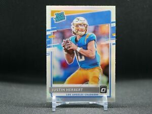 2020 Panini Donruss Optic Justin Herbert Rated Rookie Holo Prizm #153 Chargers