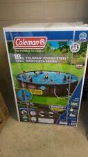 "Coleman 18' x 48"" Power Steel Swim Vista Series Ii Swimming Pool Set - In hand"