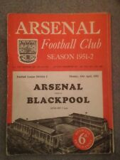ARSENAL V BLACKPOOL - DIVISION 1 - 14/4/1952