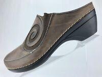 L'Artiste Vanessa Clogs - Ash Spring Step Leather Slip On Women's Sz 42 10.5/11
