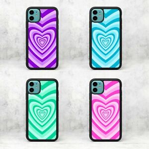 70's Groovy Heart Hearts Pink Purple Blue Lines Phone Case/Cover For iPhone UK