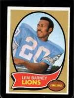 1970 TOPPS #75 LEM BARNEY EXMT (RC) LIONS HOF *SBA9165
