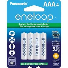 Panasonic Eneloop AAA 4 Pack up to 2100 Charges Ni-MH Rechargeable Batteries