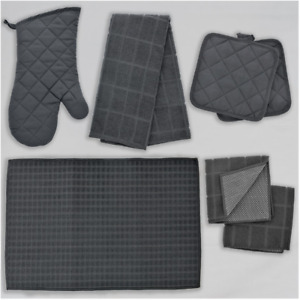 Home Collection Kitchen Grey Dish Towels Drying Mat and Linens - YOU CHOOSE -