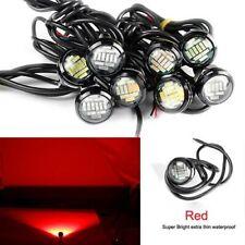 2X Red 6Watt 12leds Super Bright 23mm Round Led Eagle Eyes Light +Screw 14V ER6