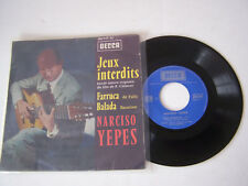 EP 4 TITRES VINYLE 45 T , NARCISO YAPES , JEUX INTERDITS . VG - / VG - .