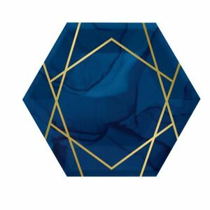 Navy Blue and Gold 40th Geode Party Supplies Tableware, Decorations & Balloons