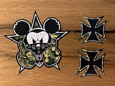 3x Bad Mickey Aufkleber Sticker Camo Cross Oldschool Rat Look Ratte Rost MG370
