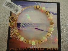 Alex and Ani MANGO SORBET Rafaelian Gold Charm Bangle New W/ Tag Card & Box