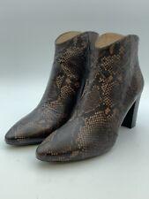Unisa Narela_VP Snake Print Leather Cowboy Booties, Brown, UK Size 8, EU 41