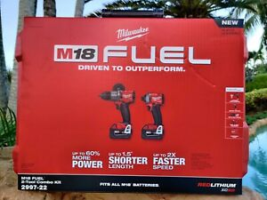 Milwaukee 2997-22 M18 Hammer Drill & Impact Driver Combo Kit w/(2) 5Ah Batteries