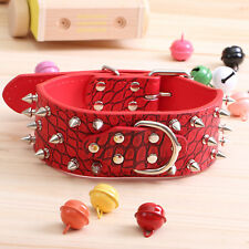 Pu Faux Synthetic leather spiked Rivet dog collar Rivet For Large Dog / pitbull