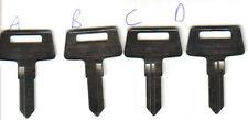 2 Kawasaki ATV Key Blank 95 & Up 4Wheeler Bayou 300 220 1995 1996 1997 1998 1999