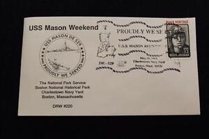 DRW NAVAL COVER # 220A USS MASON (DE-529) WEEKEND BOSTON 1995 FANCY CANCEL