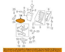 Honda Genuine 81137-TK6-A01ZA Seat Cushion Pad and Trim
