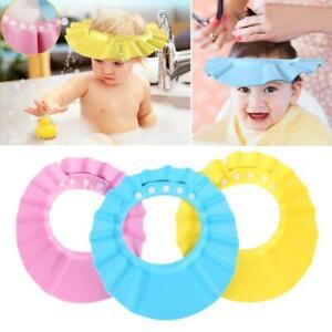 Waterproof Baby kids Adjustable Shampoo Bath Shower Hat Cap Wash Hair Shield