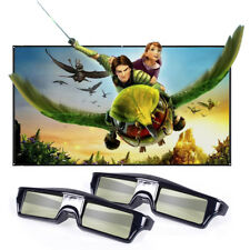 2x Active Shutter 3D Glasses for DLP-Link 3D Projector USB Rechargeable 96-144Hz