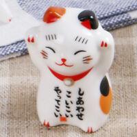 Cute  Ceramic Cat Chopsticks Rest Holder Cutlery Stand Kitchen Supply Random