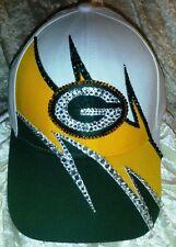 Green Bay Packers Womens Ladies Rhinestone Bling NFL Cap Hat ~NEW~