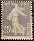 "Très beau n°136 ""35c violet-clair Semeuse chiffres maigres au type IIA"", neuf**l"