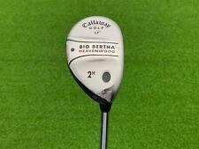 Callaway Golf BIG BERTHA HEAVENWOOD 2 HYBRID 17* Right Handed Steel UNIFLEX 2H