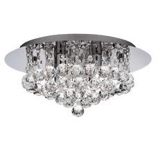 Searchlight 3404-4CC Hanna 4 Light Crystal Flush Ceiling Light -Chrome